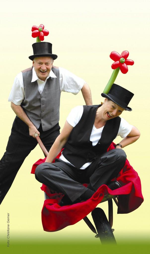 Luftballonfiguren in Kassel mit Cordula und Rüdiger Paulsen