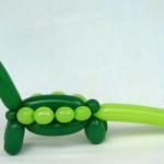 Luftballonfigur Langhals Dinosaurier