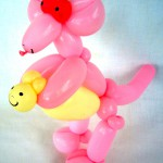 Ballonfigur Rosa Kaenguru