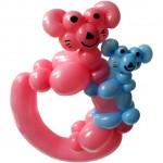 Ballonfigur Koala Bär mit Baby
