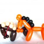 Ballonfiguren Zwei Pferde