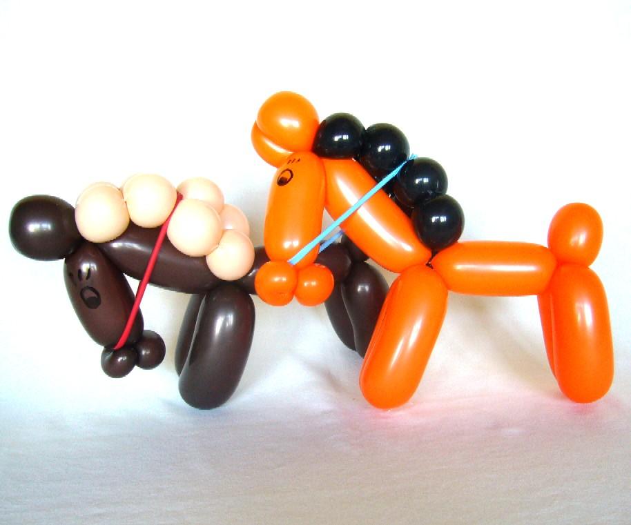 Ballonfiguren auf dem Reitturnier mit Cordula und Rüdiger Paulsen