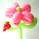 Luftballonfigur Blume mit Glückskäfer