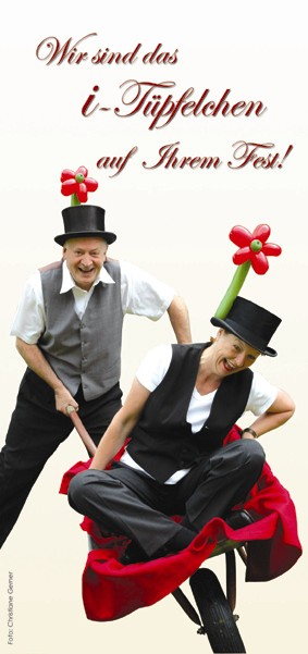 Ballonkünstler für Ihre Hochzeit - Das sind am besten Cordula und Rüdiger Paulsen.