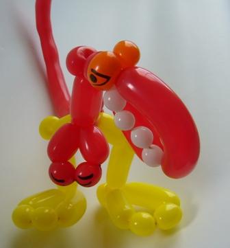 Luftballonfiguren Bocholt mit Cordula und Rüdiger Paulsen - Luftballonfigur Tyrannosaurus Rex Dinosaurier