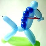 Luftballonfigur Schaukelpferd