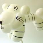 Ballonfigur Weißer Tiger