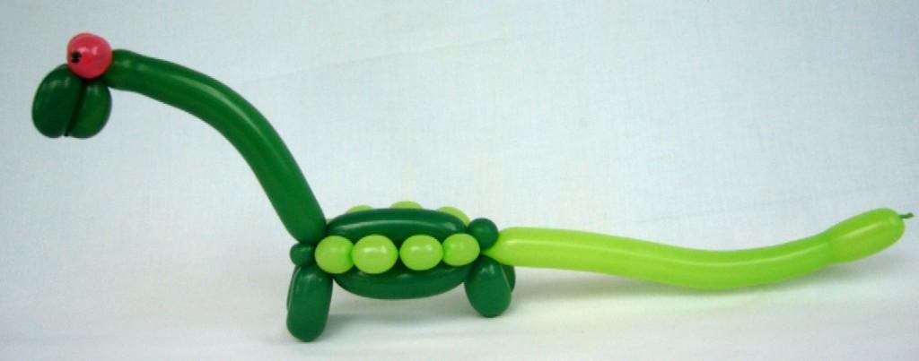 Ballonfigur Langhals Dinosaurier