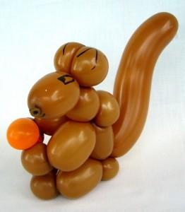 Luftballonfigur Eichhörnchen