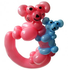 Ballonfiguren Ballontiere Springe mit Cordula und Rüdiger Paulsen