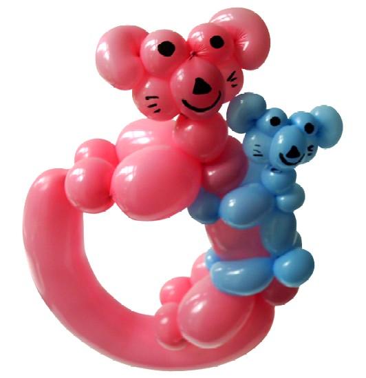 Ballontierchen Soest mit Cordula und Rüdiger Paulsen - Luftballonfigur Koala Baer mit Baby