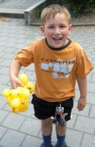 Ballonfiguren in Papenburg mit Cordula und Rüdiger Paulsen