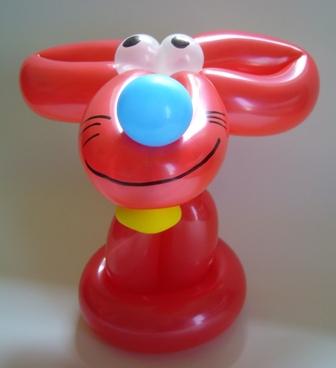 Luftballonfiguren Bocholt mit Cordula und Rüdiger Paulsen - Ballontier Rote Maus