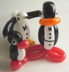 Luftballontiere Köln mit Cordula und Rüdiger Paulsen - Luftballonfiguren Pinguine