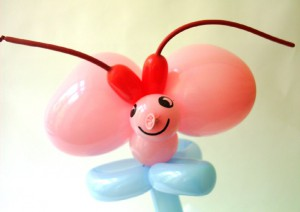 Ballonfigur Schmetterling.