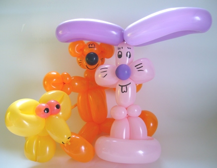 Luftballonfiguren Bär, Maus und Hase