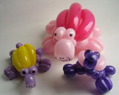 Ballonkünstler beim Tag der offenen Tuer. Keine Frage: Die Paulsens! - Ballontiere Schildkröten